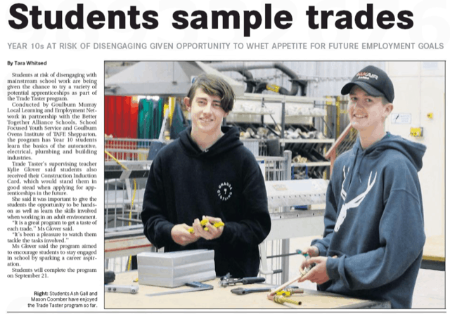 Trade Taster News Article